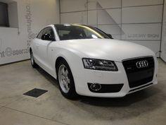 Audi A5 bianco spazzolato: dopo la lavorazione