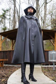 Heavy rubber cape and hat