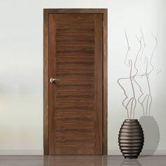Aragon Walnut Veneer Door is Pre-Finished. #walnutdoor #elegantwalnutdoor #lpdinternaldoor