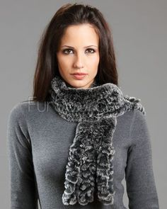 Fur Scarf with Ringlets - Black Frosted Rex Rabbit Fur Scarves, Rex Rabbit, Shop Now, Black, Fashion, Moda, Black People, Fashion Styles, Fashion Illustrations