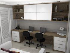 quarto de hospedes com escritorio