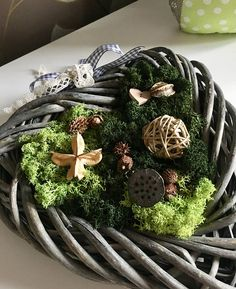 Items similar to Moss decoration natural wreath on Etsy Wreaths, Christmas Ornaments, Decoration, Holiday Decor, Natural, Unique Jewelry, Handmade Gifts, Etsy, Home Decor