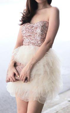 Pastel sequin & tulle dress