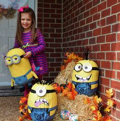 Despicable Me  - minion pumpkins!