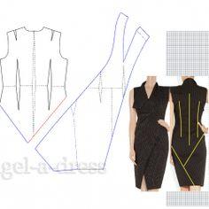 Pattern Dress, Dress Patterns, Donna Karan, Refashion, Sewing, Clothes, Black, Dresses, Patterns