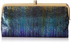 HOBO Lauren Leather Wallet,Iridescent Stripe,One Size