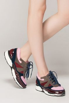 Color block trainers - FrontRowShop