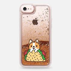 Casetify iPhone 7 Liquid Glitter Case - Tacos Corgi by Mint Corner #GlitterClothes