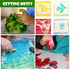 preschoolers getting messy