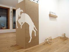 Blick in die Ausstellung in der Galerie Junge Kunst Foto: Anne Kückelhaus