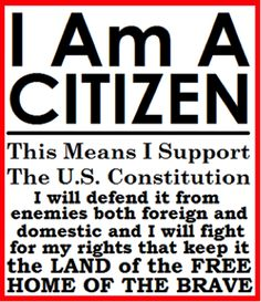 I am a citizen of the United States.