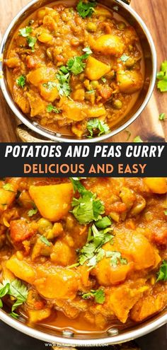 Easy and quick Instant Pot aloo matar curry (Potatoes and peas). Made with simple pantry ingredients, for beginners. Delicious, easy curry for the family! #vegan #vegetarian #restaurant #style #curry #indian #recipe #potatoes #peas #authentic #cashew #dinner #lunch #orange #tomato #onion #gravy #delish Veg Recipes, Potato Recipes, Vegetarian Recipes, Cooking Recipes, Vegan Vegetarian, Easy Recipes, 30 Min Meals, Easy Meals, Easy Indian Recipes