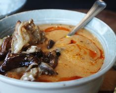 Creamy and Raw Butternut Squash Soup With Marinated Mushrooms | One Green Planet