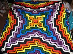 Ravelry: Square and ripple blanket pattern by Sara Palacios