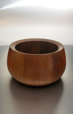 Vintage 1960s Danish Modern Dansk Teak Bowl by Jens Quistgaard. $60. Available now.