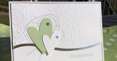 Und noch ein Silberhochzeitspaar feiert in diesen Tagen sein Ehejubiläum. Bei dieser Karte habe ich mit pistazie nicht nur auf eine ...