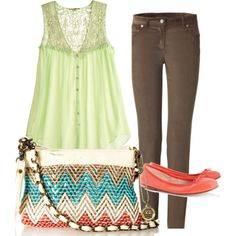 casual spring, created by tessrae on Polyvore