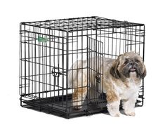 Double Door Pet Crate 24-By-18 -By-19-Inch Small Dog Animal Travel  Home Cage  #MidWestHomesforPets #Door #Pet #Crate #Cage
