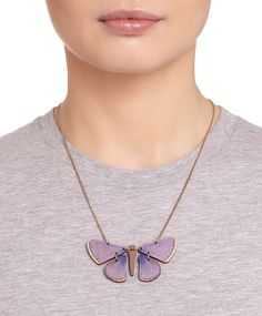 Butterfly Necklace - Common Blue