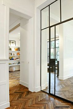 Glass doors open a space