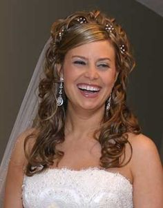 bridal hairstyles half up half down - Google Search