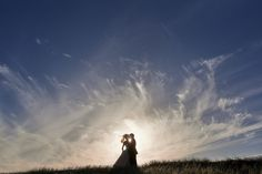 silhouette during wedding