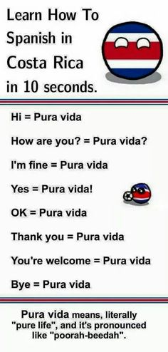 Image result for pura vida memes costa rica
