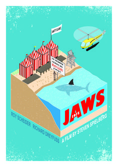 Jaws Movie Poster, Movie Prints, Alternative Movie Posters, Creature Feature, Cute Dogs And Puppies, Star Wars, Horror Films, Cultura Pop, Classic Films
