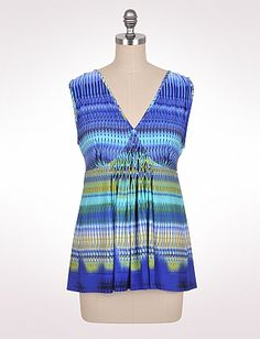 Textured Multicolor Tank. At Dress Barn, on sale for $22.40