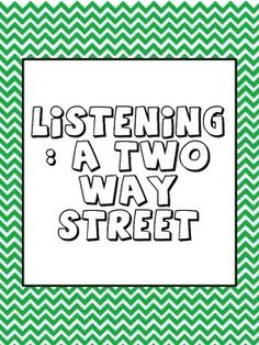 Listening A Two Way Street Counseling Lesson Plan  School Counseling