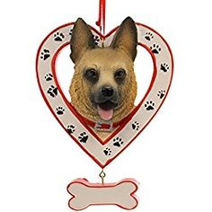 Personalized Ornament Dog In Heart W/Bone Ornament Personalized Ornament Christmas Store, Christmas Ornaments, Dog Status, Personalized Ornaments, German Shepherd Puppies, Doge, Dogs And Puppies, Animals, Ebay