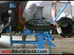 Cycle Hill Motorcycle Tire Changer - YouTube