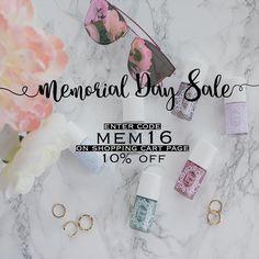 Memorial Day Sale! Visit shopglitterdaze.com to get your nails summer ready at a discount! #nails #sale #glitterdaze #pastel #nailpolish
