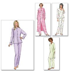 """Misses'/Misses' Petite Jacket, Robe, Top, Tunic and Pants: Currently making top """"C"""" and pants out of pink flannel from Joann Fabric and Crafts."""