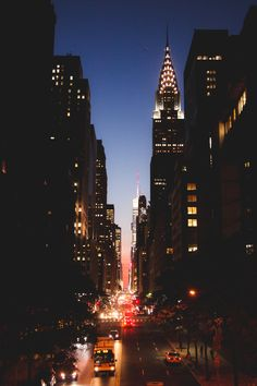 42nd St at dusk The Best Views In New York by @now-youre-cool #newyorkcityfeelings #nyc #newyork