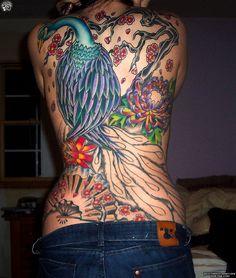 Full Back Peacock Tattoo - 110 Lovely Bird Tattoo Designs Full Back Tattoos, Full Body Tattoo, Body Tattoos, Body Tattoo Design, Tattoo Designs, Design Tattoos, Stencils Tatuagem, Tattoo Stencils, Lovebird Tattoo