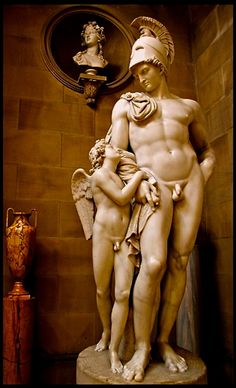 langoaurelian:  Cupid and Mars.19th.century. Mathieu Kessels. Dutch 1784-1836