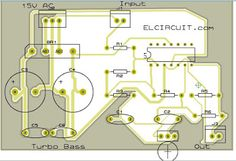 turbo bass or bass booster circuit tech electrical electronics rh pinterest com T3 Turbo Diagram Supercharger Diagram