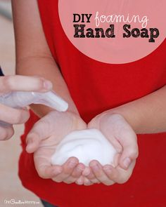 Stop wasting money on foaming hand soap. Make it yourself with this quick and simple tutorial for DIY foaming handsoap.