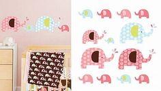 Skip Hop Pink Elephant Wall Decals
