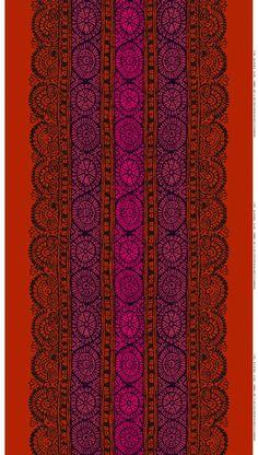 Dombra cotton (red, d.green, orange)  Fabrics, Cottons   Marimekko