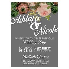 Rustic Floral Wedding Invitation  Customizable by DfinitiveDesign, $22.00