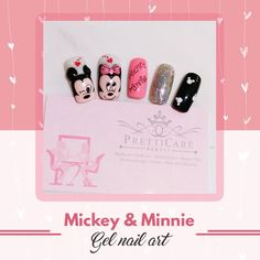Take a glimpse of this nail art set, Mickey and Minnie Gel Nail Art done by Grace. Beautiful isn't it? Put this on your nails today by visiting PrettiCare Beauty. See you folks!  For more information or making appointments, call us at +65 6635 2825 / +65 9387 3231. Visit our website at http://www.pretticarebeauty.com/     for more details. Like us on Instagram at https://www.instagram.com/pretticarebeauty/ #pretticarebeauty #beautysg #pretticare #sg #singapore #nailart