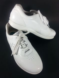 SAS-Free-Time-White-Leather-Oxfords-Mens-Comfort-Lace-Walking-Shoes-10-1-2-W