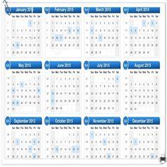 Calendar Template With Holidays   Calendar