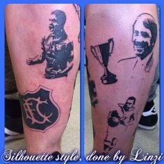 EFC, everton, everton fan club, football, leg sleeve, work in progress, silhouette