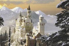 Schloss Neuschwanstein in Bavaria, Germany