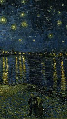 van gogh art Van Gogh Vincent van Gogh-Starry Night Over the Van Gogh Drawings, Van Gogh Paintings, Starry Night Wallpaper, Starry Night Art, Starry Nights, Van Gogh Wallpaper, Van Gogh Pictures, Van Gogh Still Life, Van Gogh Arte