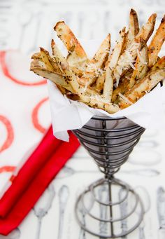 Healthy Baked Parmesan Fries