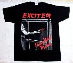 Exciter Heavy Metal Maniac 83 Anvil Anthrax Speed Thrash Black T Shirt | eBay
